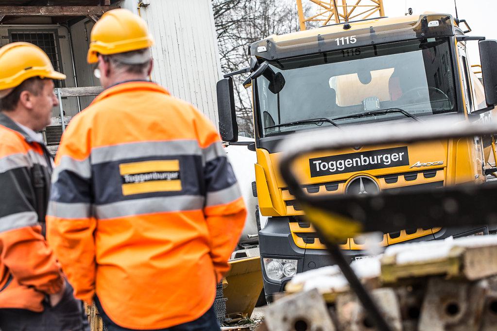 Baustelle, Toggenburger AG - Im Auftrag: Grundlicht GmbH